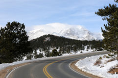 Winter Mountain Road Royalty Free Stock Photography