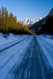 Winter Mountain Road Royalty Free Stock Photos