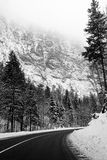 Winter mountain road Royalty Free Stock Images