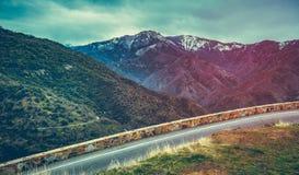 Winter Mountain Road royalty free stock photo