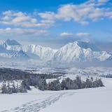 Winter mountain scene Royalty Free Stock Photo