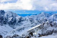 Winter mountain scene. Majestic winter scene in mountains Royalty Free Stock Photos