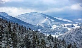 Winter mountain scene in Slovakia. Winter mountains landscape in Slovakia Stock Images