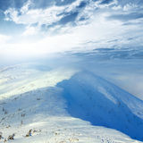 Winter mountain scene Royalty Free Stock Photos