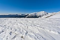 Winter mountain scenery Stock Photography