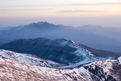 Winter mountain scenery Royalty Free Stock Photos