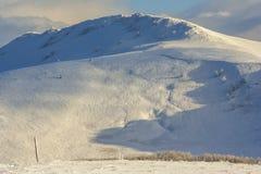 Winter mountain scenery in Bieszczady mountains Stock Image