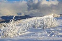 Winter mountain scenery in mountains Stock Photo