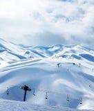 Winter mountain ski resort Stock Image