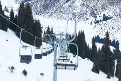 Winter mountain ski resort Stock Photos