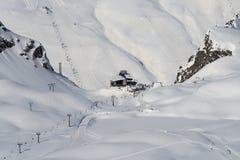 Winter mountain ski resort. Stock Image