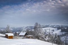 Winter in mountain royalty free stock image