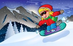 Winter mountain sport theme 2 Royalty Free Stock Image