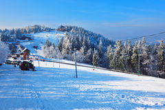 Winter mountain sports resort Royalty Free Stock Images