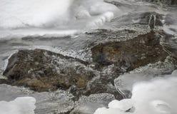 Winter mountain stream Stock Image