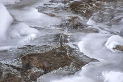 Winter mountain stream Royalty Free Stock Images
