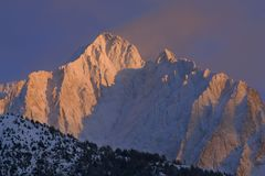 Winter mountain sunset Royalty Free Stock Photography