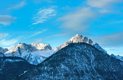 Winter mountain top landscape  (Austria). Royalty Free Stock Photos