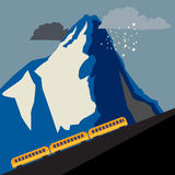 Winter mountain train Royalty Free Stock Image