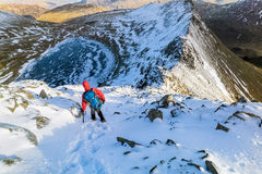 Winter Mountain Trek. Stock Photos