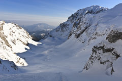 Winter mountain valley Royalty Free Stock Images