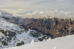 Winter mountain valley Stock Images