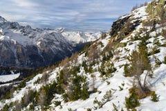 Winter mountain in Valmalenco, Sondrio, Italy Stock Photo