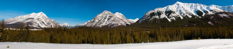 Winter Mountain Views Stock Photo