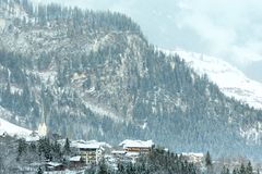 Winter mountain village (Austria, Tirol). Stock Photo