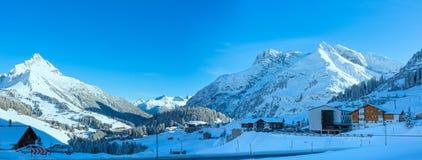 Winter mountain village & x28;Austria, Tirol, Haselgehr& x29; Stock Photo