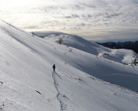 Winter mountaineering. In the Caucasus Stock Images