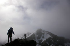 Winter Mountaineering in Scotland Royalty Free Stock Image