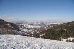 Winter at mountains stock photos