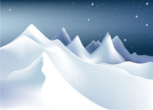 Winter mountains Stock Image