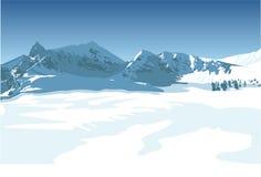Winter mountains Vector Illustration