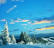 Winter mountains Stock Photography