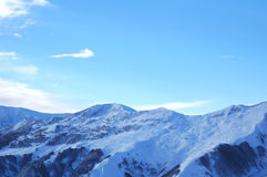 Winter mountains. High mountains in winter - Georgia Stock Photography