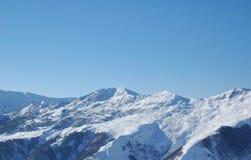 Winter mountains. Under snow - Georgia stock photo