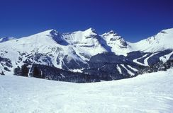 Winter mountains. Winter Canadian Rockies, Banff, Ski season, Holidays Stock Photo