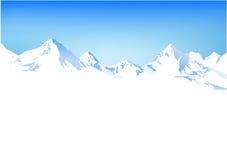 Winter mountains stock illustration