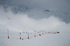 Winter Mountains. Extreme snow landscape cold terrain Stock Photos