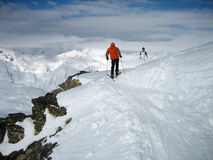 Winter Mountains. Extreme snow landscape cold terrain Royalty Free Stock Photography