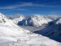 Winter Mountains. Terrain cold snow Stock Image
