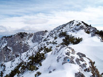Winter in mountains. Alpine winter landscape in romanian mountains Royalty Free Stock Image