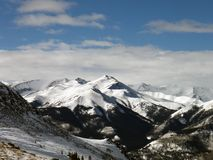 Winter Mountains. Colorado's Sawatch Range in the winter from near the summit of Beirstadt Stock Image