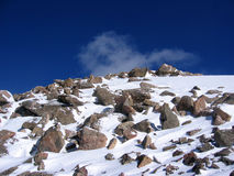 Winter Mountains. The summit of Mount Beirstadt in Colorado Stock Photography