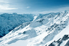 Winter mountains. Bright sunny day. Winter mountains Royalty Free Stock Photography