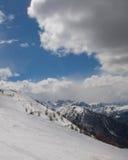 Winter mountains. Blue sky snow Stock Photos