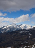 Winter mountains. Blue sky snow Royalty Free Stock Images