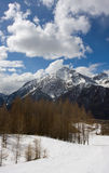 Winter mountains. Blue sky snow Stock Images